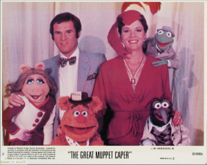 Charles Grodin, Diana Rigg and the main muppets in an original Theatrical Still from The Great Muppet Caper